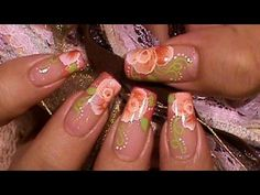 How to Paint One Stroke Nail Art Designs (playlist). Easier than I ever thought