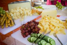 Cheese, veggies, fruit. Great for wine & cheese party