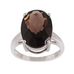 Smoky Quartz 925 Sterling Silver Ring Jewelry by ArihantJewelry