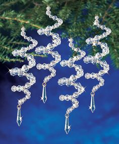 Give your tree some sparkle with these crystal spirals.