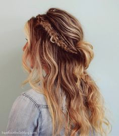 Part 2 of 3 Coachella Hairstyle DIY series www.barefootbelleblog.com