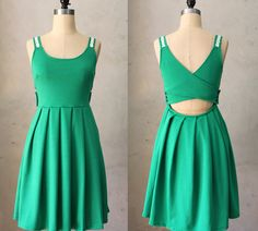 DERICA EMERALD  Jumper dress with pockets // by FleetCollection, $68.00