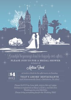 Bridal Shower Invitation Design A Cinderella Story