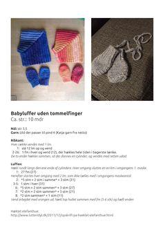 Hæklet babyluffer