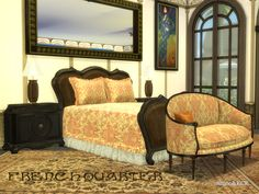 First Part of the French Quarter Series. All Objects are new done.  Found in TSR Category 'Sims 4 Adult Bedroom Sets'