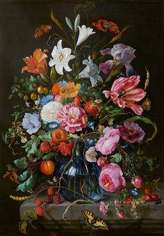 De Heem . Vaas met bloemen