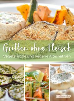 without meat - vegetarian and vegan alternatives - Grillen ohne Fleisch – Vegetarische und vegane Alternativen Barbecuing without meat? No problem! With these recipes, it also grills vegan, vegetarian and delicious and healthy! Also for meat lovers; Grilling Recipes, Meat Recipes, Vegetarian Recipes, Healthy Recipes, Vegan Vegetarian, Healthy Eating Tips, Clean Eating Recipes, Clean Eating Snacks, Health Snacks