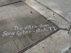 Sony Cybershot T1 guerilla marketing