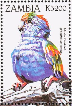 Mulga Parrot stamps - mainly images - gallery format