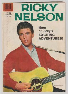 Four Color Comics (Ricky Nelson); Vol 2, 998, Silver Age Comic Book. VG+. 1959. Dell Comics #fourcolor #rickynelson #silveragecomics #comicsforsale