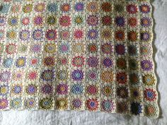 Alpaca flowers square blanket (link to Flowers in the Snow pattern)