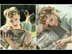 pinup look for those who want a curly fringe / bangs / ringlets look!  Easiest Pinup Hair Tutorial - YouTube