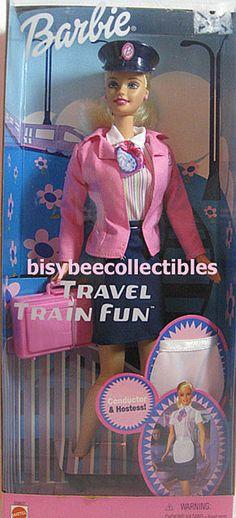 2001 Barbie TRAVEL TRAIN FUN BARBIE Doll 55807 ~ 2001 Mattel #Mattel #BarbieDoll