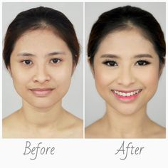 Wedding Day Makeup Before And After : Lynette Tee Make up on Pinterest Wedding Day Makeup ...