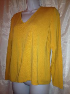 "Chico's CHICO SUNLIGHT YELLOW V NECK LAYER 3 COLOR BLOUSE Bust 40""  size 2 #Chicos #Blouse"