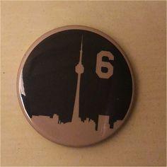 The Six Toronto Skyline Button by SaavyInc on Etsy Toronto Skyline, Make And Sell, Buttons, Etsy, Knots, Plugs