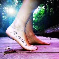 Charming Black Foot Quote Tattoos for Girls - Best Foot Quote Tattoos for Girls#valentines day