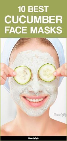 Cucumber Face Masks Source by skinbrighteningmasks Honey Face Mask, Clay Face Mask, Face Mask For Spots, Chocolate Face Mask, Charcoal Mask Peel, Cucumber Face Mask, Coffee Face Mask, Skin Mask, Homemade Face Masks
