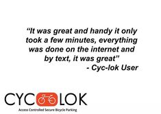No lost keys, no forgotten combinations, all you need is your phone! With the Cyc-lok app you can book your locker from anywhere, at anytime. Check out what our Cyc-lok users have to say! Lost Keys, Cyclists, Road Cycling, Locker, All You Need Is, Bicycle, App, Sayings, Phone