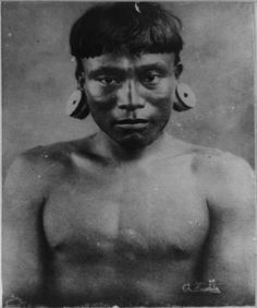 Botocudos Indian Man by  Unknown Artist