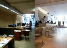 Before & After - Carlton estate agents, Angel. How good Lighting Design and Space Planning can transform your space.