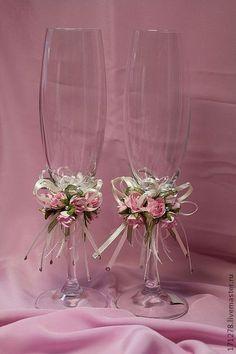 Свадебные аксессуары ручной работы. Ярмарка Мастеров - ручная работа Свадебные бокалы (арт. 0003). Handmade.: