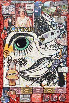 Damian Le Bas, caravan after Miles Davis 2009 Kai, Miles Davis, Caravan, Collages, It Works, Snoopy, Paintings, Artist, Fictional Characters