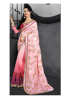 Pink Color Georgette Saree - Rs. 2550.00