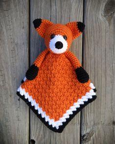 Crochet Fox Lovey/ Security Blanket: Orange by AndreaDanielle
