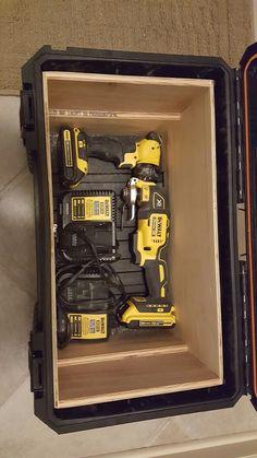 Ridgid tool box. Diy drill storage/ organizer & 240 Likes 16 Comments - Foam Tool Box Inserts (@kaizen_inserts) on ...
