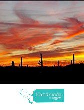 . A panoramic photograph of a soothing colorful red and yellow desert sunset among the Saguaro cactus in Arizona. Large wall art décor panorama photography to decorate your living room or office. from Bob Estrin Fine Art Photography http://www.amazon.com/dp/B01C6IKUT4/ref=hnd_sw_r_pi_dp_hT--wb05TGPGV #handmadeatamazon