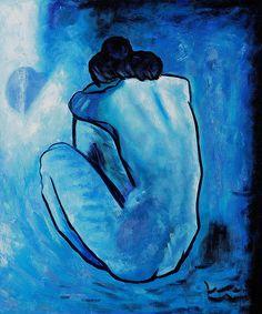 Retro Babe - bejwelled: Blue-Pablo Picasso, Henri Matisse,...