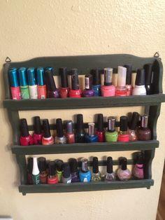 Greysilverglitter makeup jewelry organizer display nail