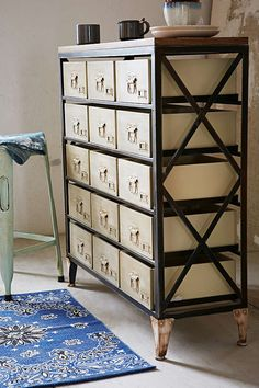 Slide View: 3: Industrial Storage Dresser