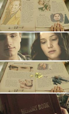 The memory book!!! Makes me want to cry seeing that they have to write stuff about everyone who is dead... Prim Finnick cinna rue Boggs:( Super excited 4 the movie!!!!