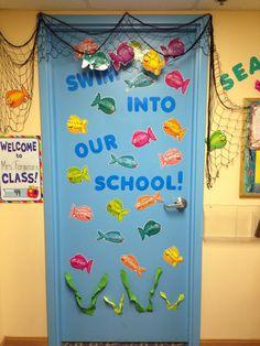 Under the sea. Classroom door