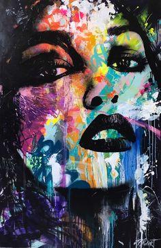A great statement piece Gif Kunst, Pop Art, Abstract Face Art, Arte Pop, Street Art Graffiti, Portrait Art, Collage Art, Painting & Drawing, Watercolor Art