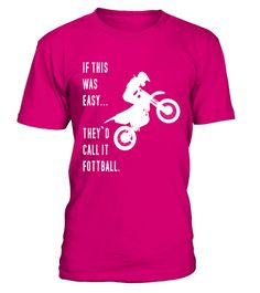 # Funny Motocross Football T-Shirt .  I'd Rather Be Riding Motocross - This is the perfect t-shirt for any motocross, supercross, enduro, off road racing, motorcycle, freestyle, bike rider or trial racing lover you know that has a unique sense of humor and classy style. Perfect Gift for Mom, Dad, Son, Men, Women or Boys and Girls. If you are a real dirt bike nut, this shirt is for you.