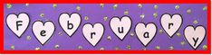 A great first-of-the-month job for reading stations! The children cut apart the heart letters and arrange them to correctly spell February. They decorate the word with dots of glitter to make special Valentines!  ($)