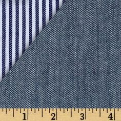 Kaufman Reversible Railroad Stretch Denim Indigo from @fabricdotcom  From Robert Kaufman, this heavy weight (10.65 oz. per square yard) denim fabric has a soft hand with a touch of lycra for 10% stretch across the grain. It is perfect for creating stylish skirts, pants, and jackets.