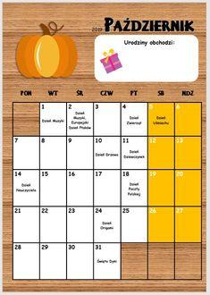 Kalendarz przedszkolaka 2019/2020 - Pani Monia Bullet Journal 2019, Kids Education, Creative Crafts, Kids And Parenting, Bujo, Coloring Pages, Organization, How To Plan, School