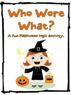 Image result for halloween logic puzzles printables