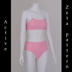 Zeta High waist Active style bikini pattern