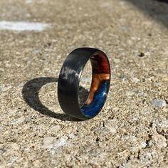 Einlage Kohlefaser-Ring Holz Holz-Ring Ring