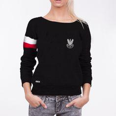 Bluza Orzeł Armii Krajowej z biało-czerwoną opaską - Kolekcja Dyskretna - damska