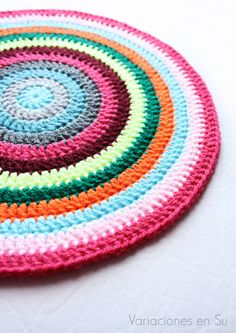 Colorful crochet mandala.