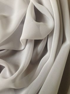 Grey Georgette Polyester Fabric by the yard by IntlPleating. $6.00/yd