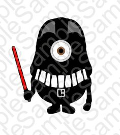 Minion Darth Vadar Inspired T Shirt   SVG and by BrocksPlayhouse
