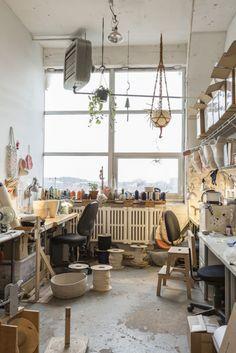 Doug Johnston workspace / studio / atelier