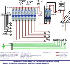 Wiring of the Distribution Board with RCD (Single Phase